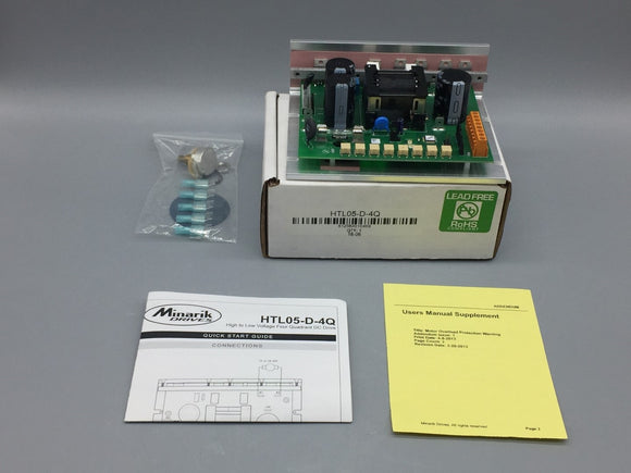 NEW MINARIK DRIVES HTL SERIES HIGH TO LOW 4 QUADRANT DC DRIVE PN# HTL05-D-4Q