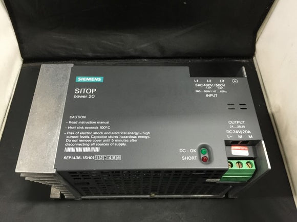 Siemens Power Supply Module - 6EP1436-1SH01