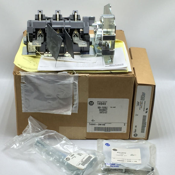 NEW ALLEN BRADLEY 1494V RH NON-FUSIBLE DISCONNECT SWITCH 100A PN# 1494V-DN100
