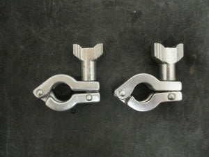 "Stainless Steel 1/2"" and 3/4"" Heavy Duty Clamp (Lot of 2)"