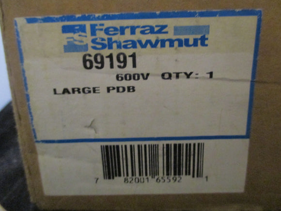 New Ferraz Shawmut Large Power Distribution Block - 69191