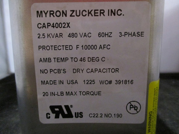 NEW Myron Zucker Dry Cell Capacitor - CAP4002X