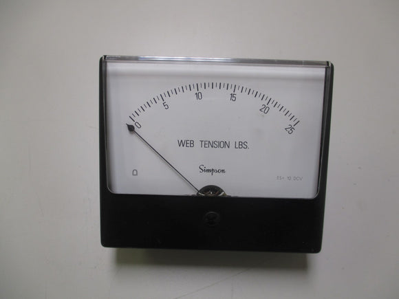 Simpson N06402 Web Tension Gauge 0 - 25 pounds