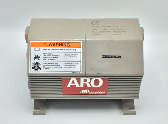 NEW INGERSOLL RAND ARO DOUBLE DIAPHRAGM PUMP 4.5CFM/GPM 100PSI PN# PD02P-APS-PTT