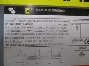 Square D Three Phase General Purpose Transformer 415Kva - EN415TQ54333R1