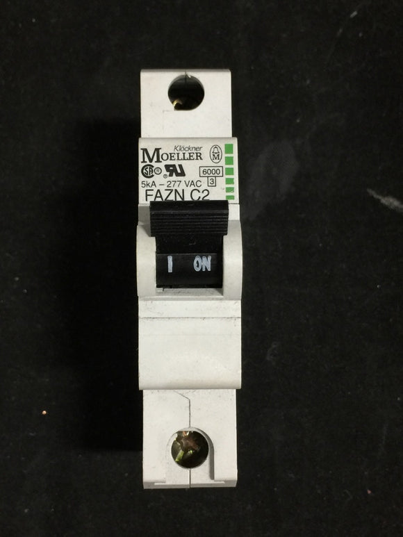 Moeller Electric 2 Amp - 1 Pole - 5kVA - 277V Circuit Breaker - FAZN-C2