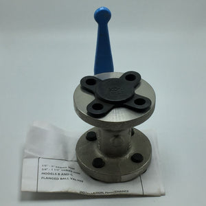 NEW JAMESBURY SERIES 5000 FLANGED BALL VALVE 1IN PN# 1-530S-31-3600-MT