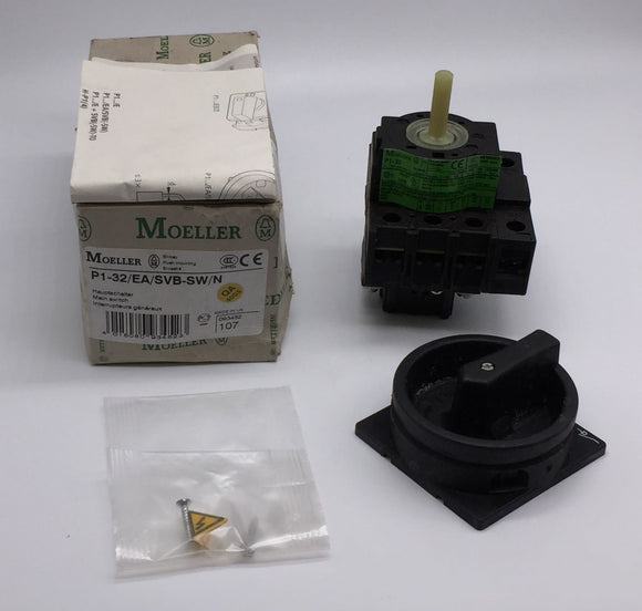 NEW MOELLER P1-32/EA/SVB-SW/N MAIN SWITCH 32A, 690VAC PN# 0932452