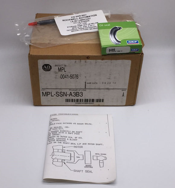 NEW ALLEN BRADLEY SHAFT SEAL KIT FOR MPL-A3XX & MPL-B3XX MTR PN# MPL-SSN-A3B3