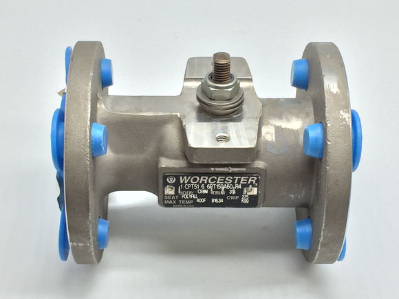 NEW WORCESTER FLANGED BALL VALVE 1IN CLASS 150 PN# 1-CPT51-6-6RT150A60-R4