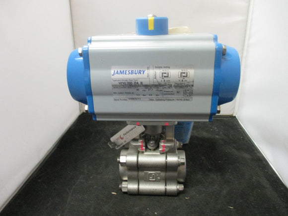 Jamesbury Pneumatic Actuator Double-Opposed Piston 116 PSI 8Bar with attachment