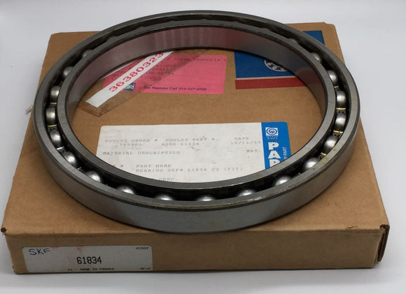 NEW SKF RADIAL DEEP GROOVE BALL BEARING 170MM BORE DIAMETER PN# 61834