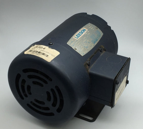 LEESON ELECTRIC C4T17FH5A AC MOTOR 1/4HP, 208-230V, 1725RPM PN# 101078.00