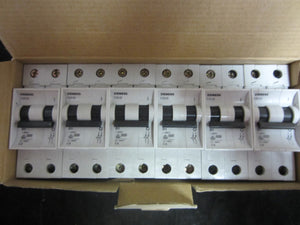 NEW Siemens Miniature Circuit Breaker (Lot of 6) - 5SX2 201-8