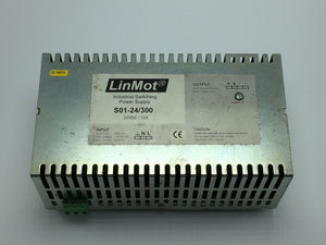 LINMOT INDUSTRIAL SWITCHING POWER SUPPLY 24VDC/12A/300W PN# S01-24/300