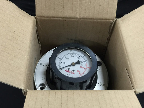 NEW HYDAC PRESSURE GAUGE ISOLATOR  0-250 PSI PN# MS2H2.1