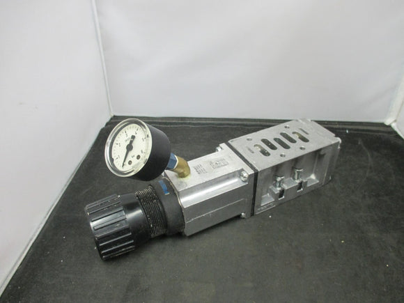 Festo Pressure Regulator 35970 LR-ZP-A-D-2 w/ Wika Gauge Attachment