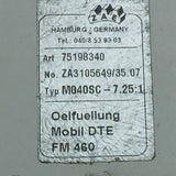 NEW ZAE HAMBURG/GERMANY TYPE: M040SC 7.25:1 GEARBOX ZA3105649/35.07 PN# 75198340