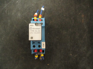 Finder 56.32 12A 250VAC Ice Cube Relay w/ 96.72 Socket