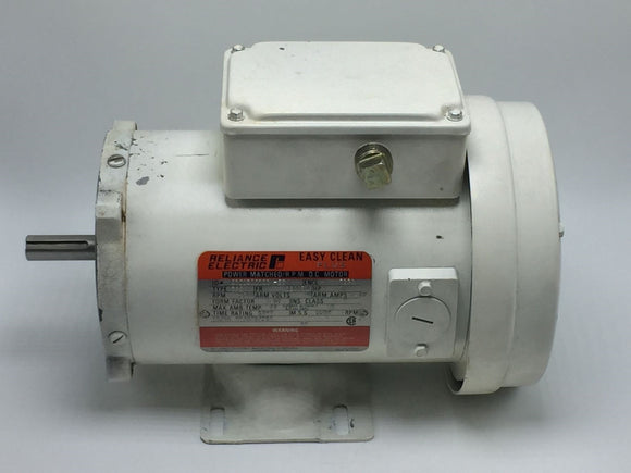 RELIANCE ELECTRIC EASY CLEAN PLUS MOTOR SE0056C 1/2HP 3500RPM PN# 01KA500141-ZY