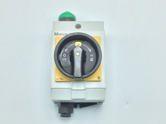 MOELLER DISCONNECT SWITCH WITH GREEN LED, 16A PN# T0-2-113