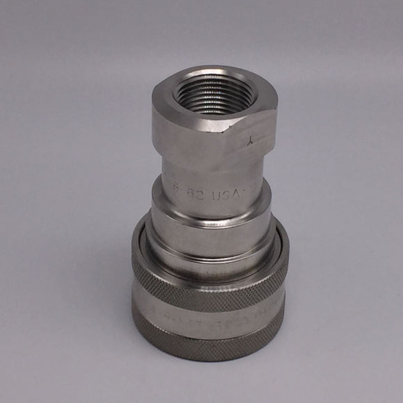 NEW PARKER 60 SERIES FEMALE THREAD STAINLESS STEEL COUPLER 1500PSIG PN# SSH6-62Y