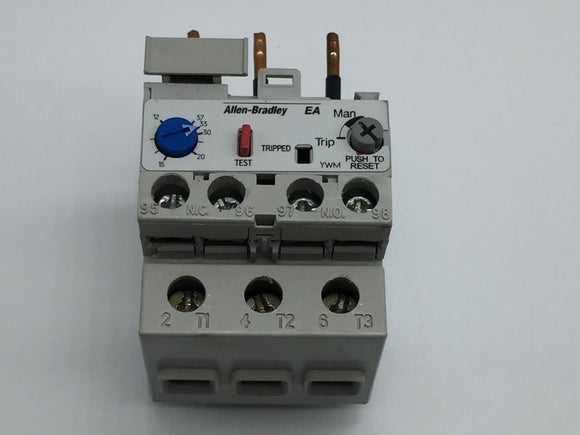 ALLEN BRADLEY SOLID STATE OVERLOAD RELAY 12-37A, SERIES B PN# 193-EA2HC
