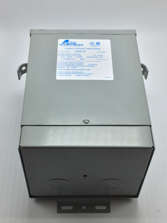 ACME GENERAL PURPOSE TRANSFORMER STYLE SR 240/480VAC, 3KVA, 1 PHASE PN# T253013S