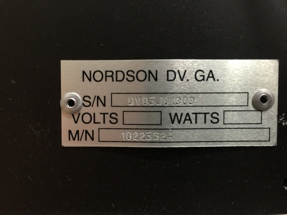 NEW NORDSON REMOTE METERING STATION PN# 1022352A
