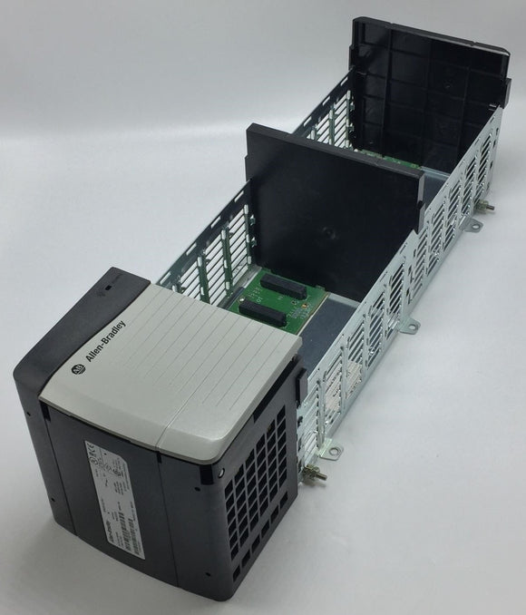 ALLEN BRADLEY 1756-PA72/C POWER SUPPLY W/ ALLEN BRADLEY 1756-A10/C SLOT CHASSIS