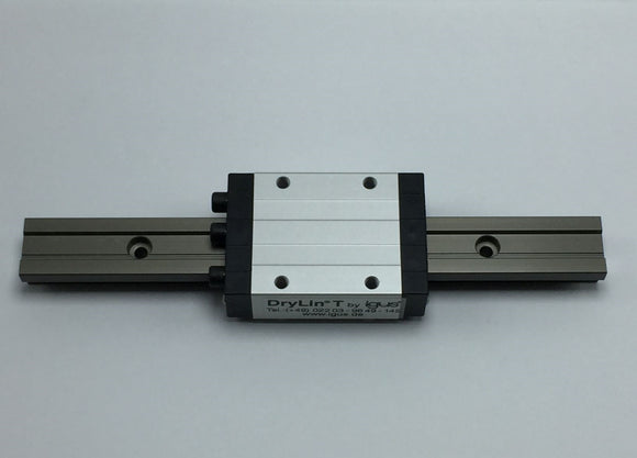 NEW IGUS DRYLIN T LINEAR GUIDE SYSTEM W/RAIL 200MM PN# TW-01-15