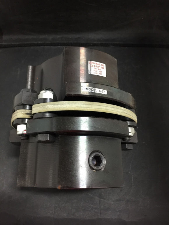 NEW ZERO-MAX 6-67 CD COUPLING 85MM X 85MM PN# 6A67