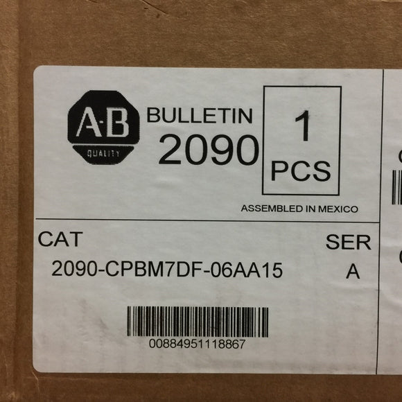NEW ALLEN BRADLEY POWER CABLES W/SPEEDTEC DIN CONNECTOR 2090-CPBM7DF-06AA15