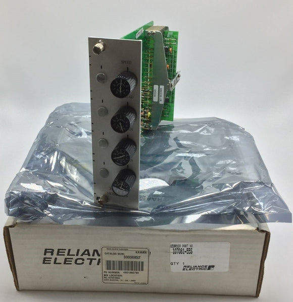 NEW RELIANCE ELECTRIC 3CC1 PC BOARD PN# 107081-55S