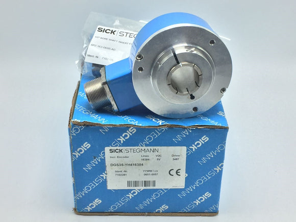 NEW SICK/STEGMANN 3.5IN DGS35-YH416384 INCREMENTAL ENCODER 5VDC PN# 7102281