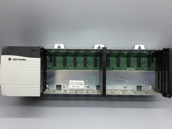 ALLEN BRADLEY 1756-PA72/C POWER SUPPLY W/ ALLEN BRADLEY 1756-A10/B SLOT CHASSIS