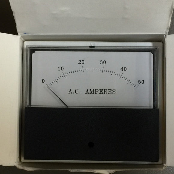 NEW RELIANCE ELECTRIC AC AMPERES PANEL METER ASSY PN#  612233-17Y