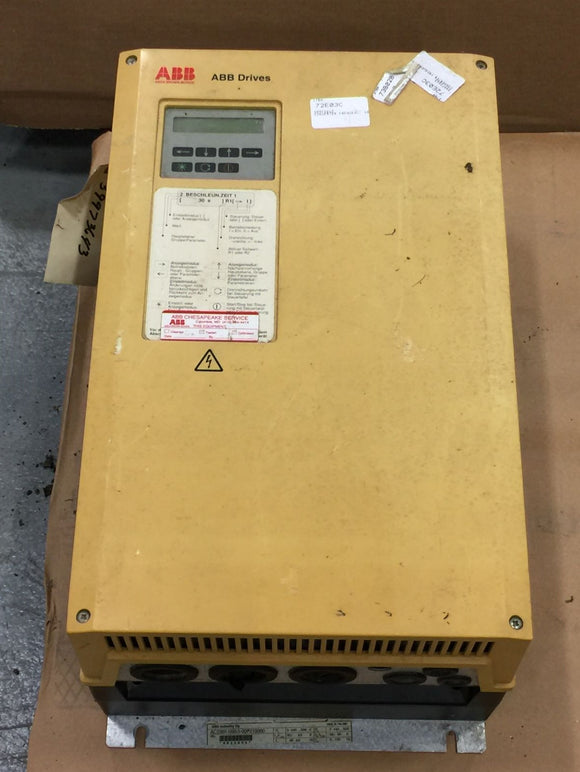 ABB AC DRIVE W/INTERNAL BRAKE CHOPPER 440-500VAC 50HP PN# ACS501-050-5-00P210000