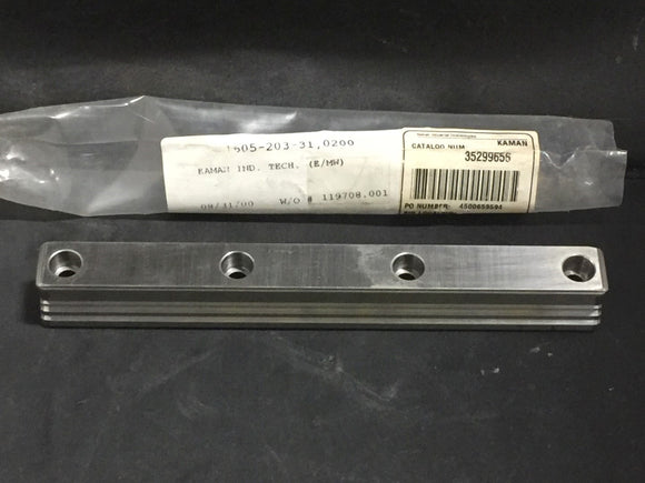 NEW KAMAN LINEAR GUIDE RAIL SIZE 25, LENGTH 200MM PN# 1605-203-31,0200