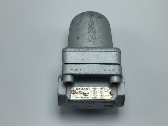 NEW GESTRA/FLOWSERVE THERMOSTATIC STEAM TRAP 1IN DN25 CL300 PN# MK 35/2S3