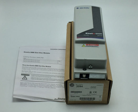 NEW ALLEN BRADLEY KINETIX 6000 SLOT FILLER 230V OR 460V, SERIES A PN# 2094-PRF