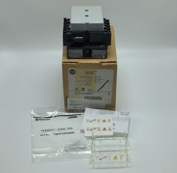 NEW ALLEN BRADLEY FUSED DISCONNECT SWITCH 30A 3P 600V SERIES B PN# 194R-NN030P3