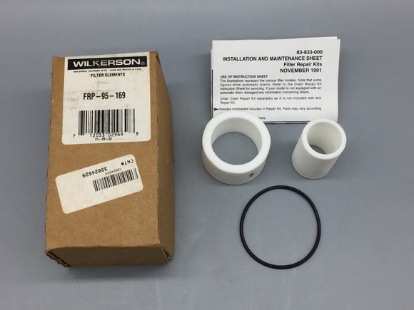 NEW WILKERSON PNEUMATIC FILTER REPAIR KIT (ELEMENT TYPE A) PN# FRP-95-169