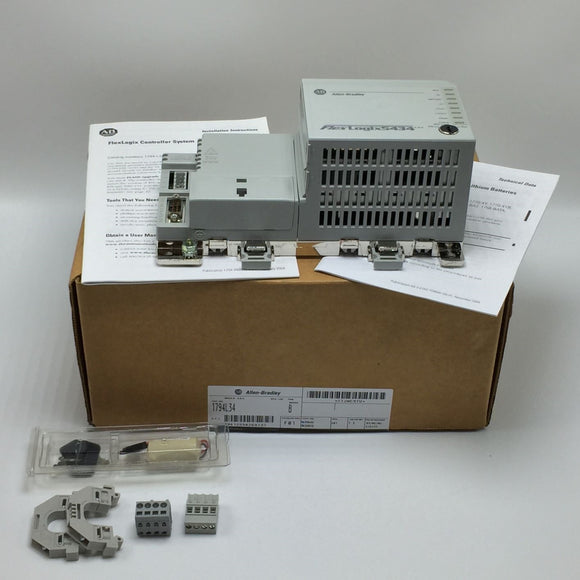 NEW ALLEN BRADLEY FLEXLOGIX 5434 PROCESSOR UNIT 24VDC SER B PN# 1794-L34