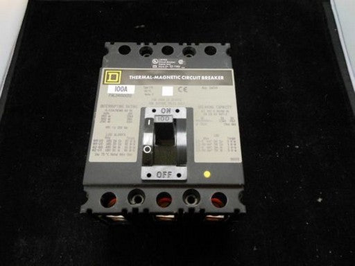New Square D 100A Circuit Breaker - FAL341001212