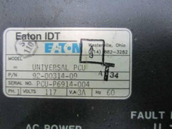 Eaton 92-00314-09 Fused Power Control Unit