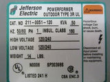 New Jefferson Electric 211-0051-120 Powerformer