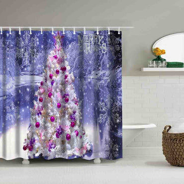 Shower Curtain Decor With Hooks - Jarblue