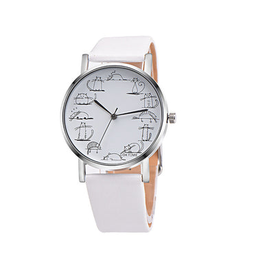 Cat Quartz Wrist Watch - Jarblue
