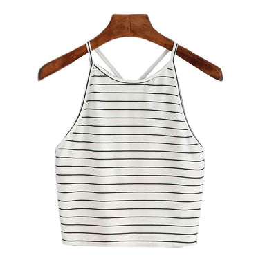 Women Fashion Striped Sleeveless Tops - Jarblue